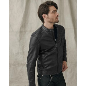 V Racer Leather Jacket Black