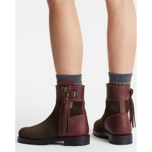 Penelope Chilvers Inclement Cropped Tassel Boot Seaweed/Conker