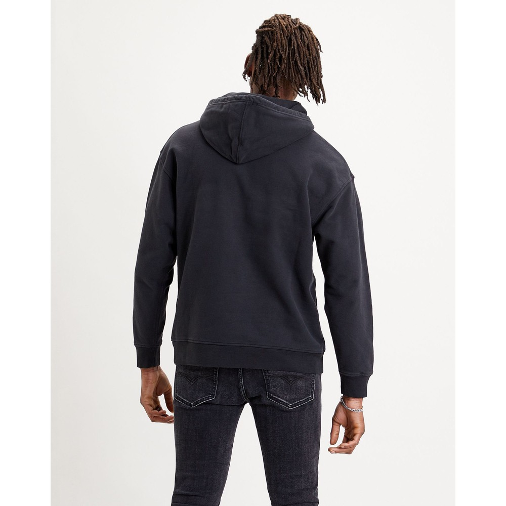 Levis Relaxed Graphic Serif Hoodie Jet Black