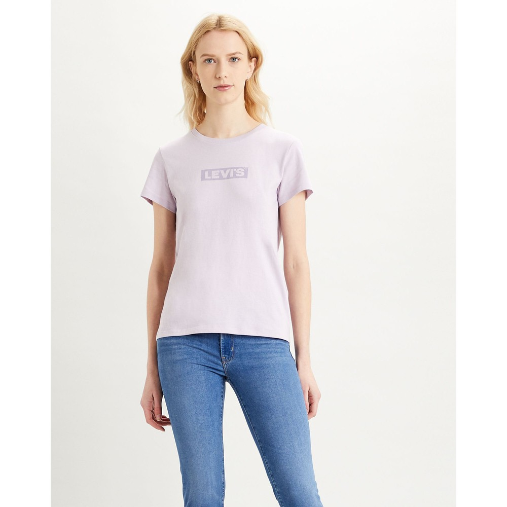 Levis The Perfect Tee-Box Tab Lavender Frost