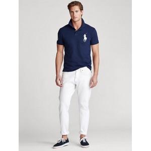 Polo Ralph Lauren Large Logo 3 Custom Slim Polo Newport Navy/White