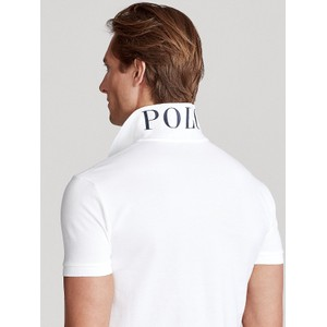Polo Ralph Lauren Large Logo 3 Custom Slim Polo White/Navy