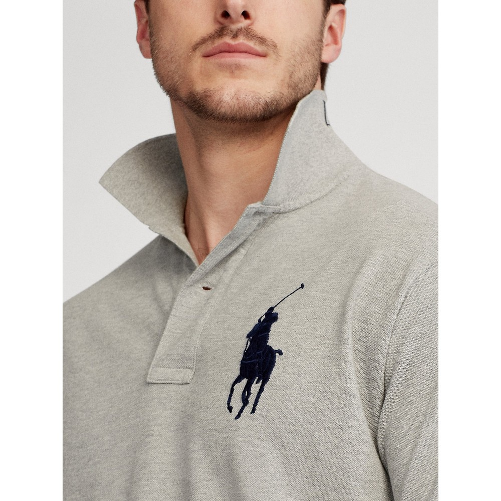 Polo Ralph Lauren Large Logo 3 Custom Slim Polo Andover Heather/Navy