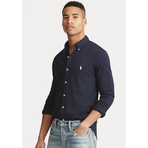 Polo Ralph Lauren L/S Featherweight Mesh Shirt in Aviator Navy