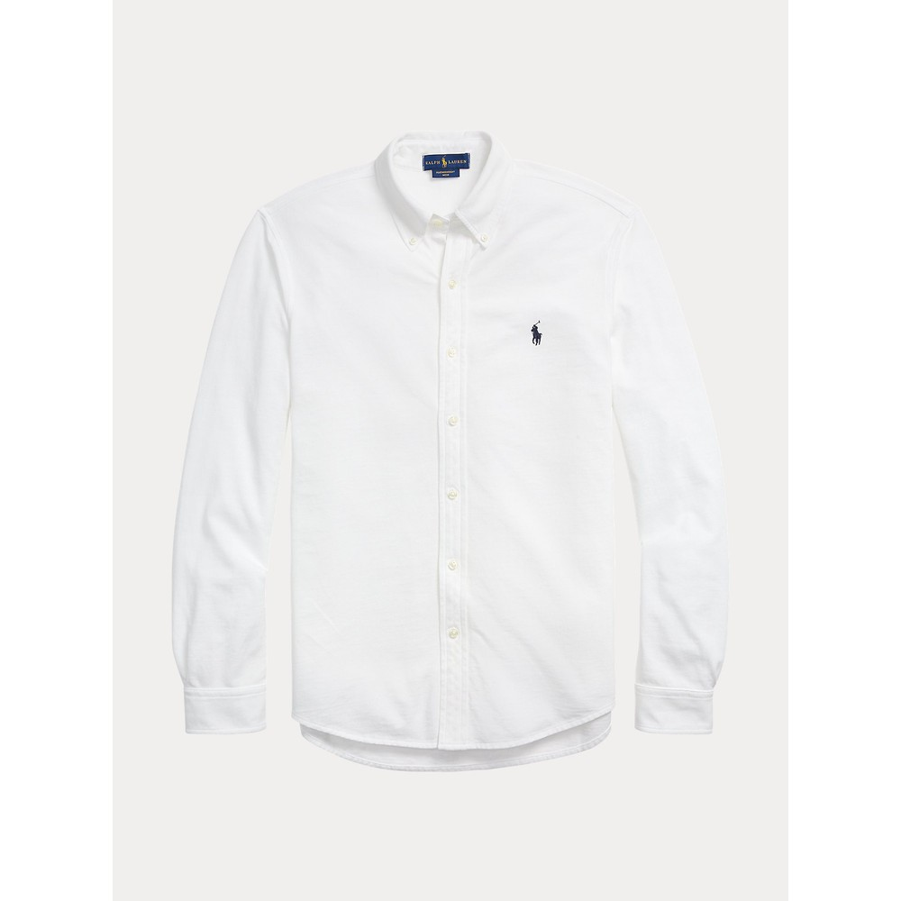 Polo Ralph Lauren L/S Featherweight Mesh Shirt White