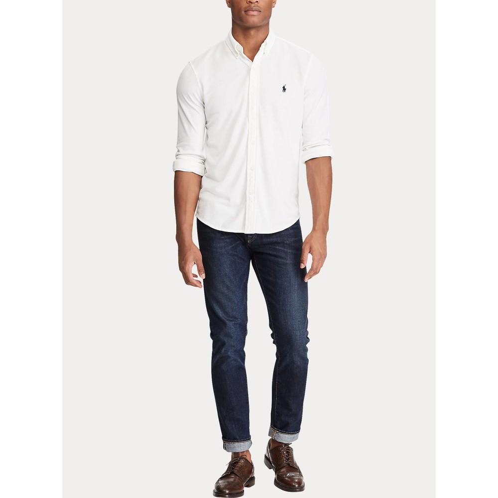 Polo Ralph Lauren L/S Featherweight Mesh Shirt White