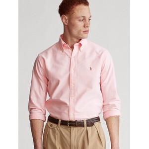 Polo Ralph Lauren L/S Logo Custom Sport Shirt in Pink
