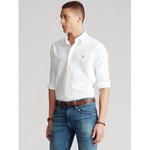 Polo Ralph Lauren L/S Logo Custom Sport Shirt White