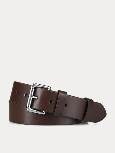Polo Ralph Lauren 1 1/2 Roller Leather Belt Brown