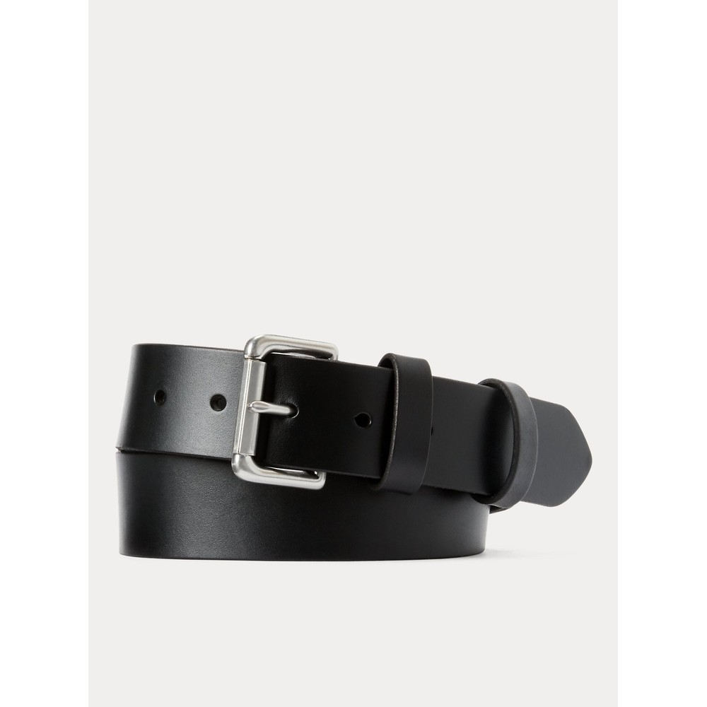 Polo Ralph Lauren 1 1/2 Roller Leather Belt Black