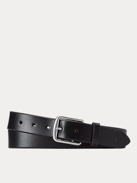 Polo Ralph Lauren 1 3/8 Saddler Leather belt Black
