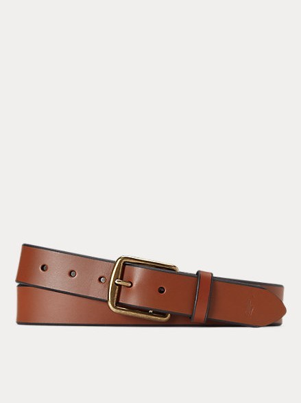 Polo Ralph Lauren 1 3/8 Saddler Leather belt Brown