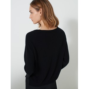 Marella Abbado Split Cuff Wide Nk Knit Black