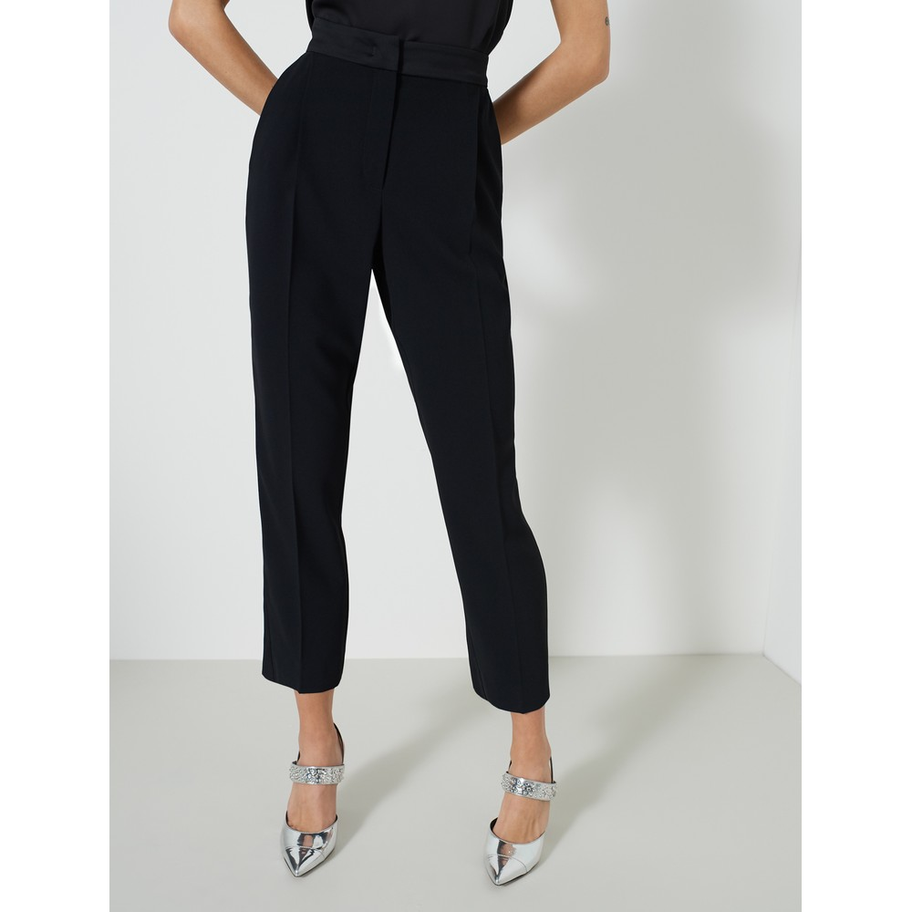 Marella Izabel Tapered Leg Trousers Black