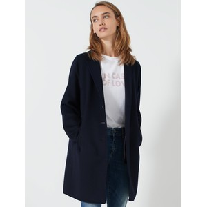 Monviso Single Breasted Coat Navy