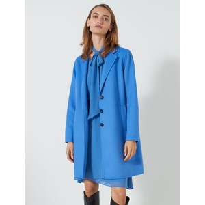 Monviso Single Breasted Coat Cornflower Blue