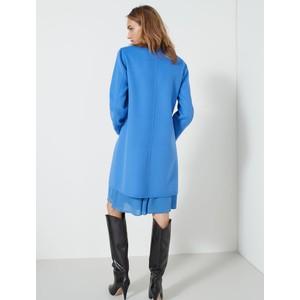 Marella Monviso Single Breasted Coat Cornflower Blue
