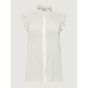 Marella Yelina S/L Riffled Blouse Off White