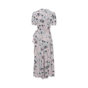 Riani S/S Floral Wrap Dress Powder/White