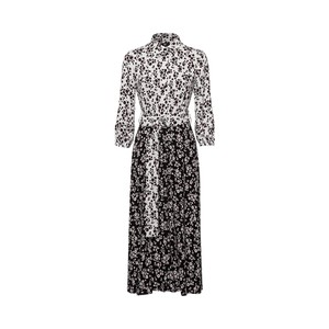 Riani Contrast Daisy Shirt Dress Off White/Wine/Black