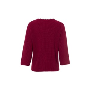 Riani Beaded Nk Rib Knit Jumper Amarena