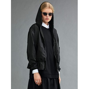 Hooded Lightweight Layer Jkt Black