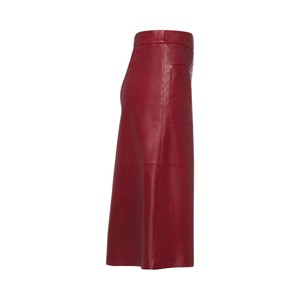 Riani A Line Leather Skirt w Pkts Amarena