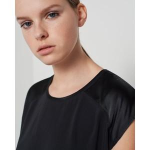 Marella Dentice S/L Silk Panel Top Black