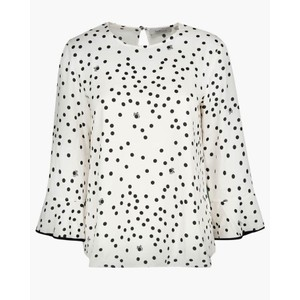 Softly Spotty Blouse Panna/Black