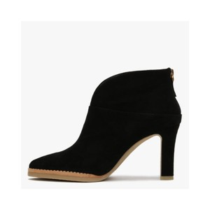 Lola Cruz Herne V Cut Zip Ankle Boot Black
