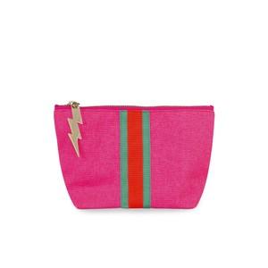 Cockatoo Stripe Make Up Bag in Pink
