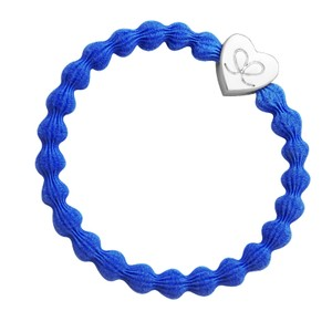 Gold Heart Bangle Bands  Royal Blue