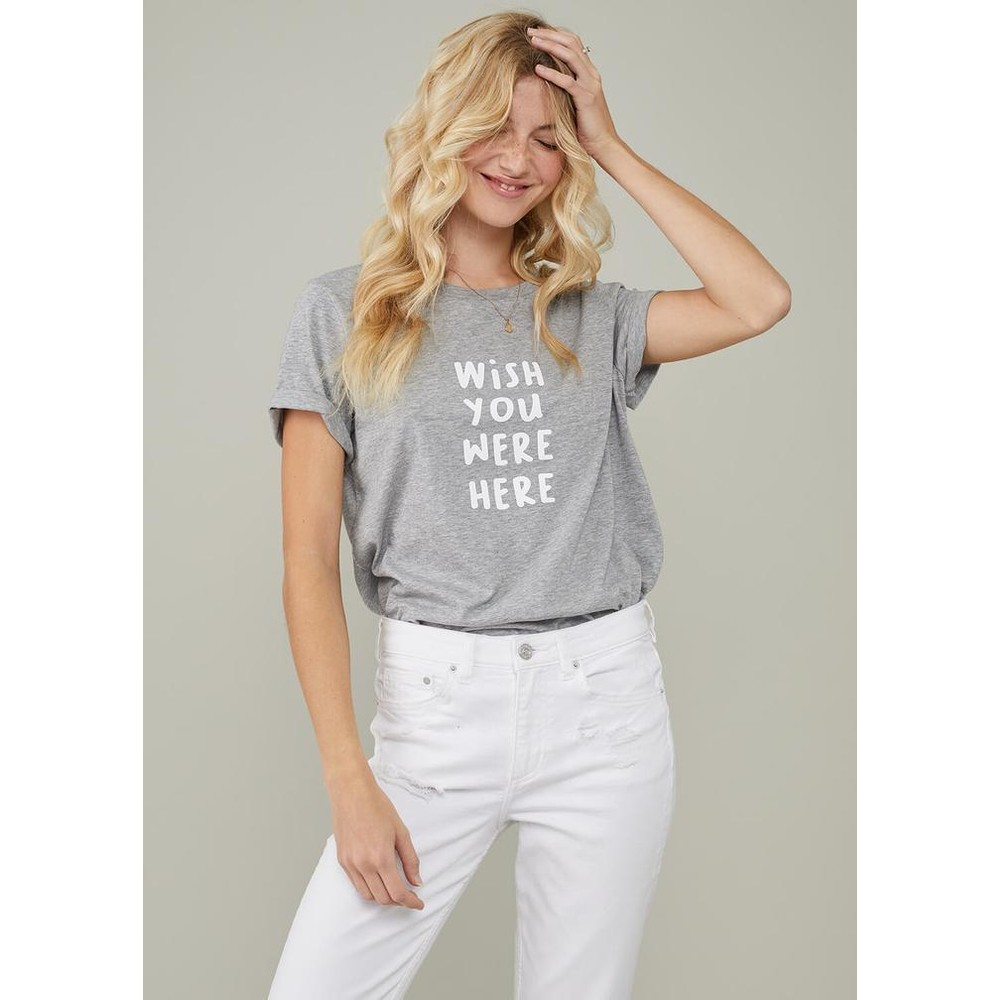 South Parade Lola Wish You Were Here Tee Grey