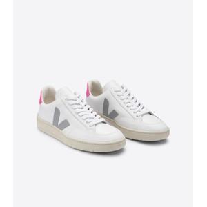 Veja V-12 Leather Extra White/Oxford Grey/Sari