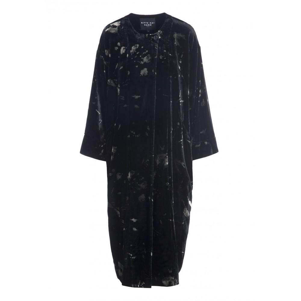 Bitte Kai Rand Ink Blot Velvet Long Jacket Black/Grey