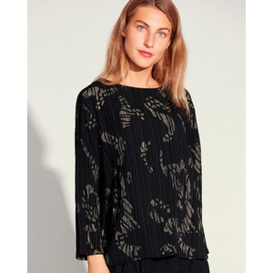 Broken Strokes Blouse Black/Khaki