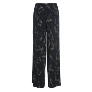 Bitte Kai Rand Broken Stroke Wide Trousers Black/Khaki