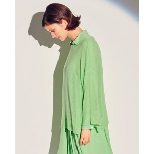 Air 3/4 Slv Fine Knit Jumper Neon Green