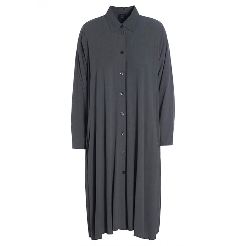 Bitte Kai Rand Ether O/sized Shirt Dress Dark Grey
