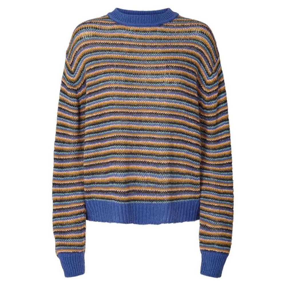 Lollys Laundry Ameli Stripe Jumper Dusty Blue/Multi