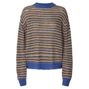 Ameli Stripe Jumper Dusty Blue/Multi