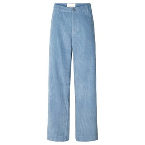 Selma Cord Wide Trousers Dusty Blue