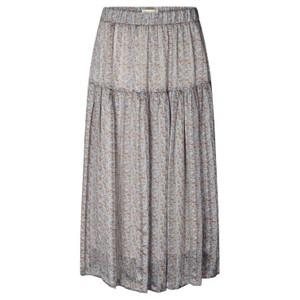 Lollys Laundry Cokko Leaves Long Skirt Dusty Blue/Multi