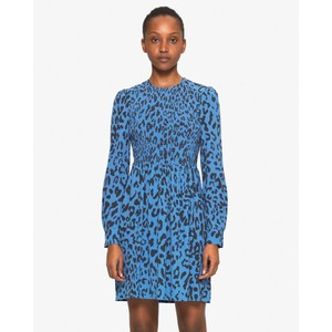Avaleigh Leopard Tunic Dress Provence Blue