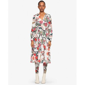 Aericka V/N L/S Dress Cream Floral Branch