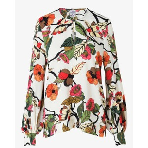 Mandra Floral Branch Blouse Cream