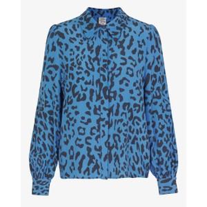 Mafalda Leopard Print Shirt Provence Blue