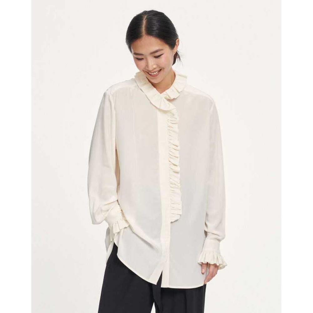 Samsoe Samsoe Jade Ruffled Shirt Whisper White