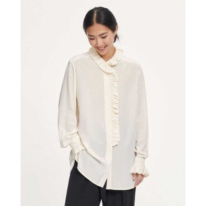 Jade Ruffled Shirt Whisper White