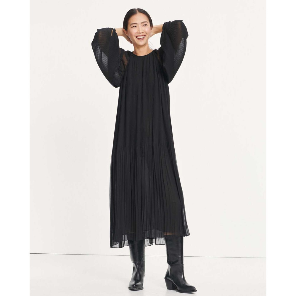 Samsoe Samsoe Elena L/S Pleated Dress Black